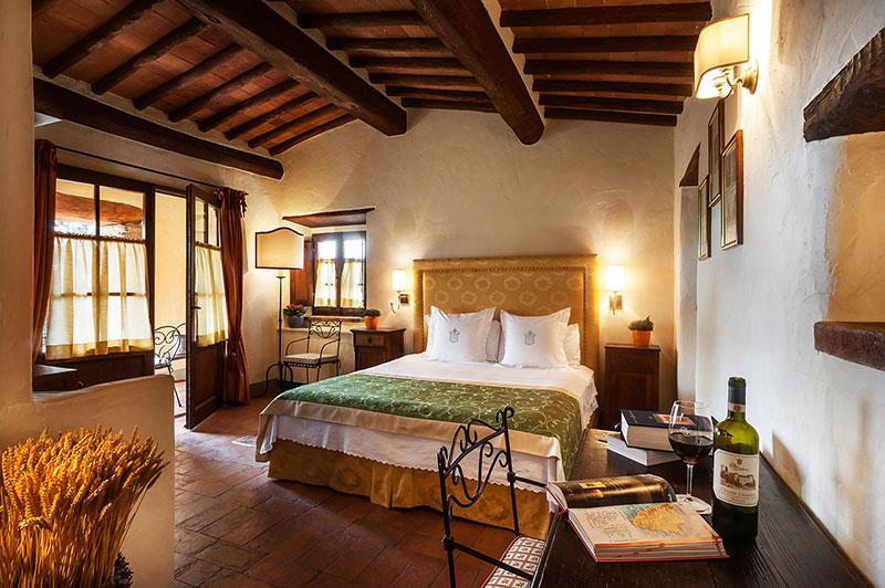 room in a wedding castle in siena