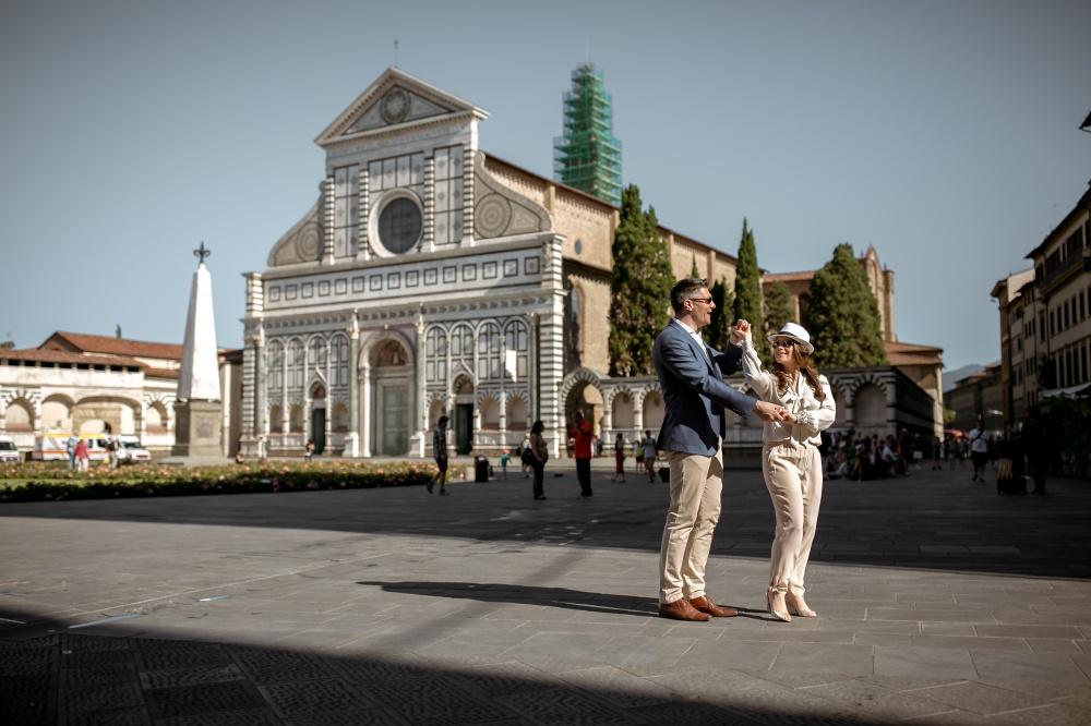 wedding ceremony church in florence piazza santa maria novella