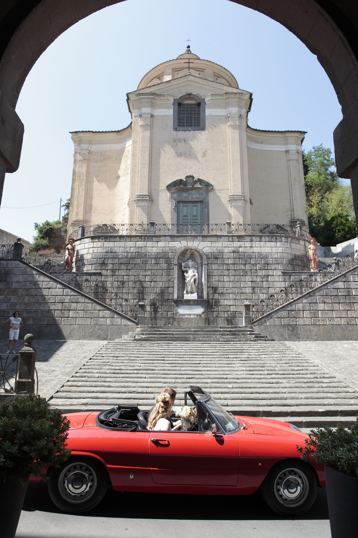 wedding ceremony church entrance in san miniato