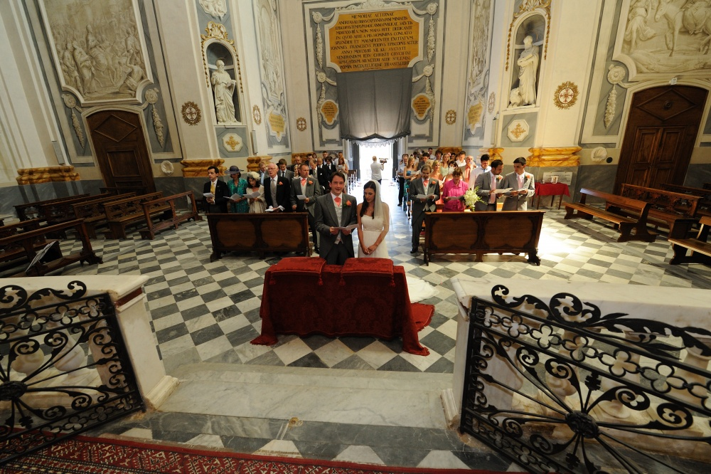 wedding catholic ceremony in san miniato