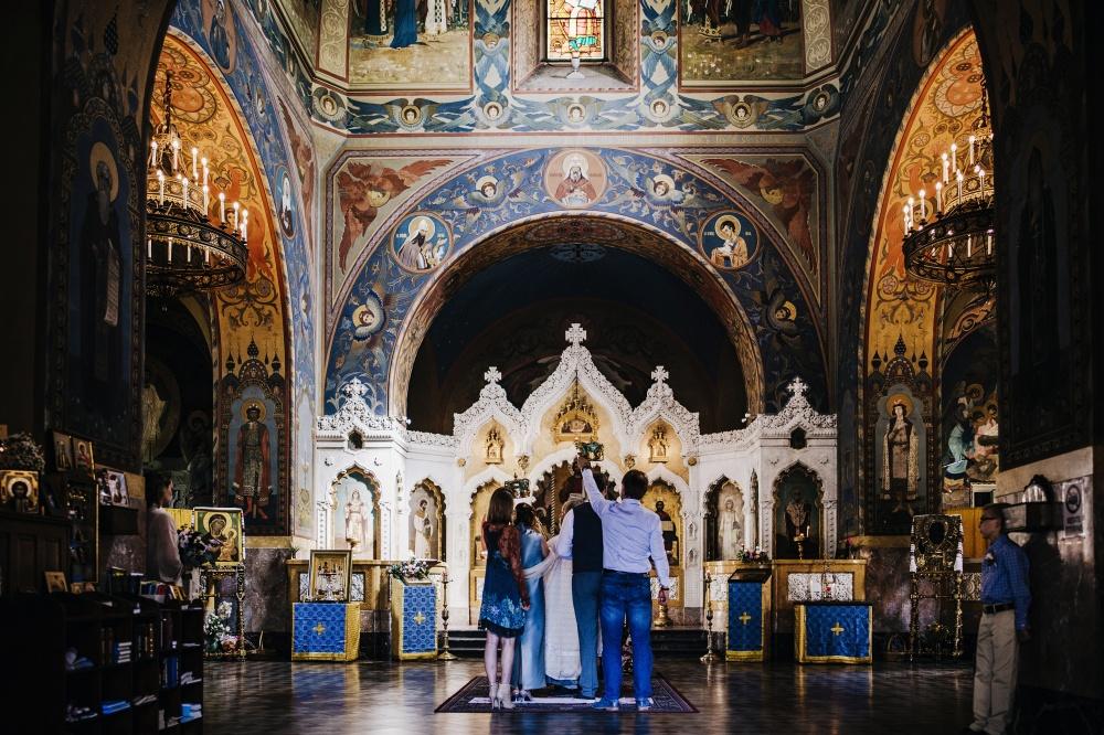 wedding orthodox ceremony church in florence