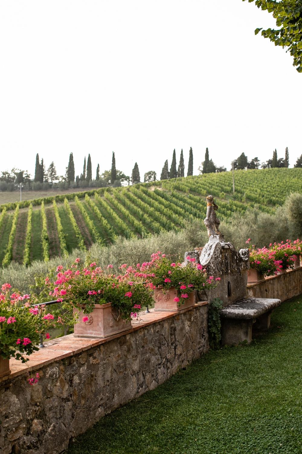 landscape view in siena