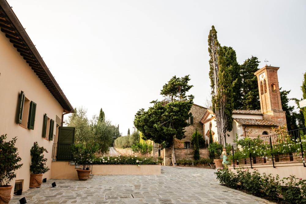 square in a wedding farmhouse