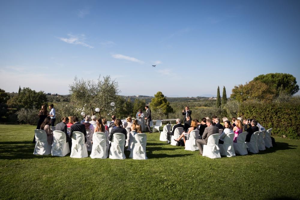 garden ceremony in a wedding farmhouse