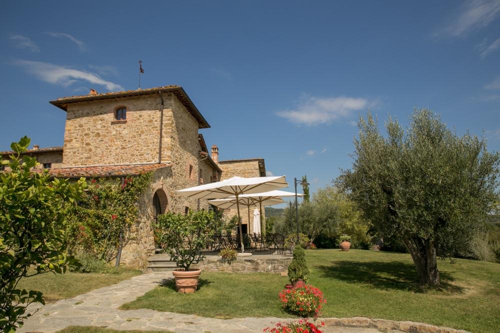 garden in a wedding hamlet in siena