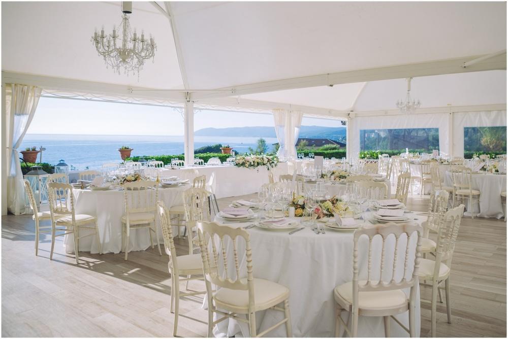 wedding dinner facing the beach