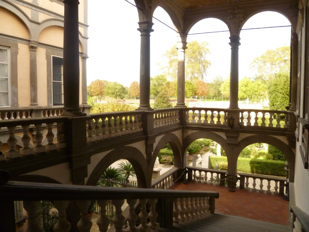 view of a loggia in a palace for weddings in lucca