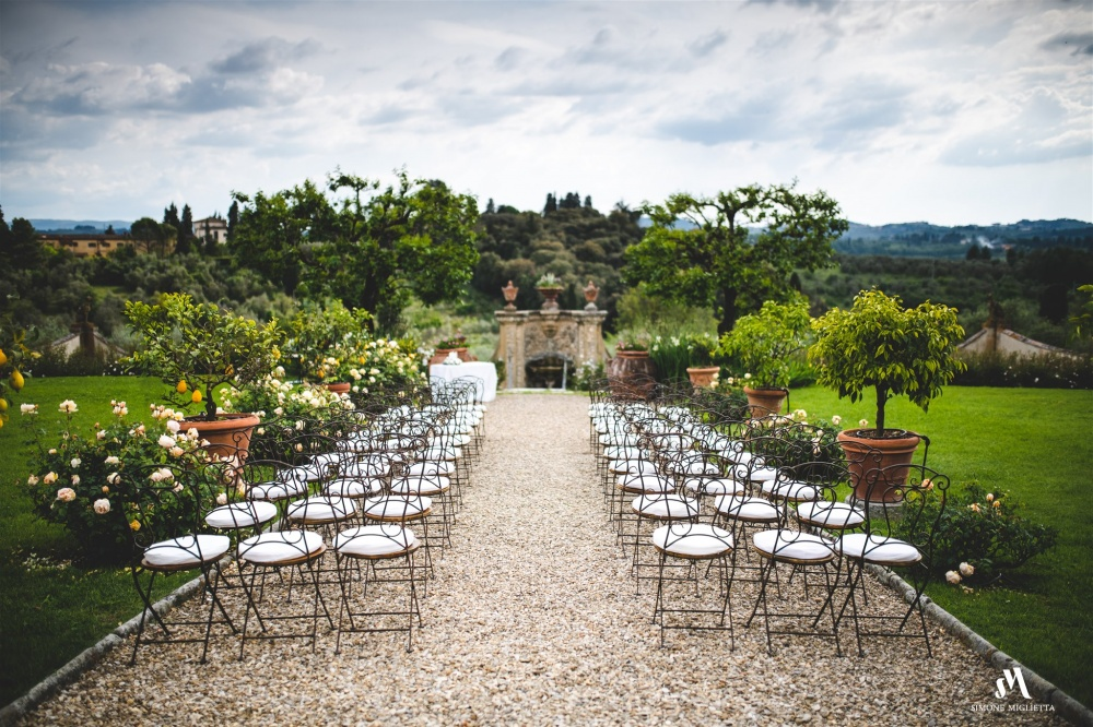 wedding rustic ceremony chair villa in florence