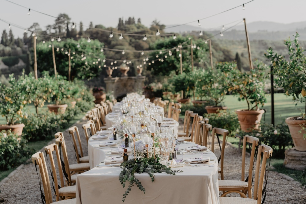 wedding rustic table villa in florence
