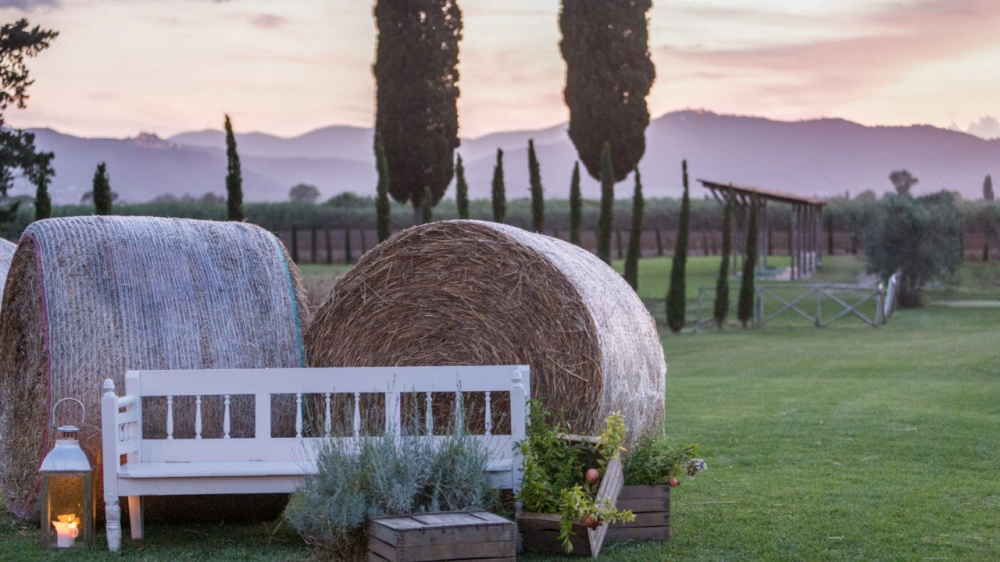 garden in a wedding venue in maremma