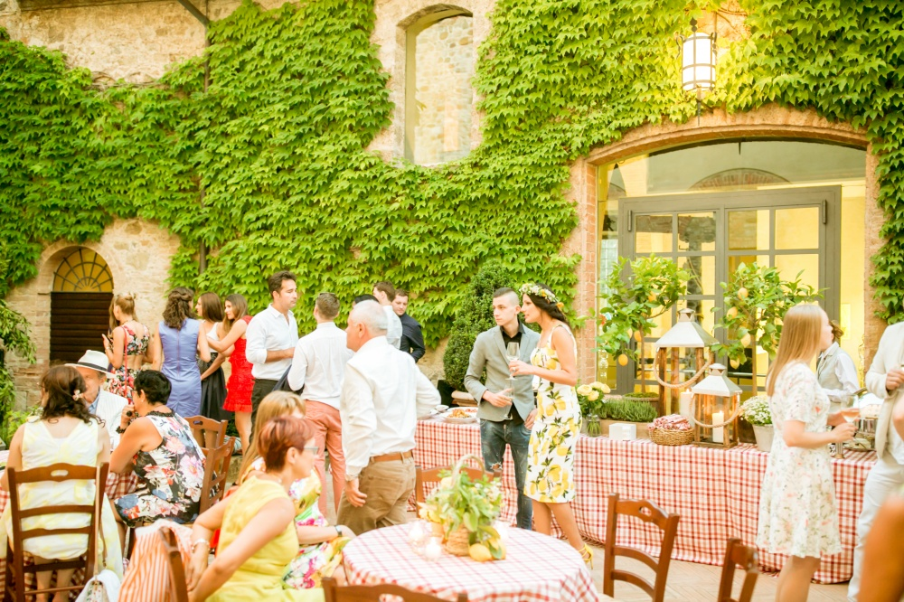 wedding welcome night venue in tuscany
