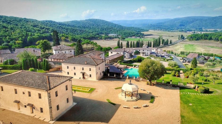 aerial view of a hamlet venues for indian wedding