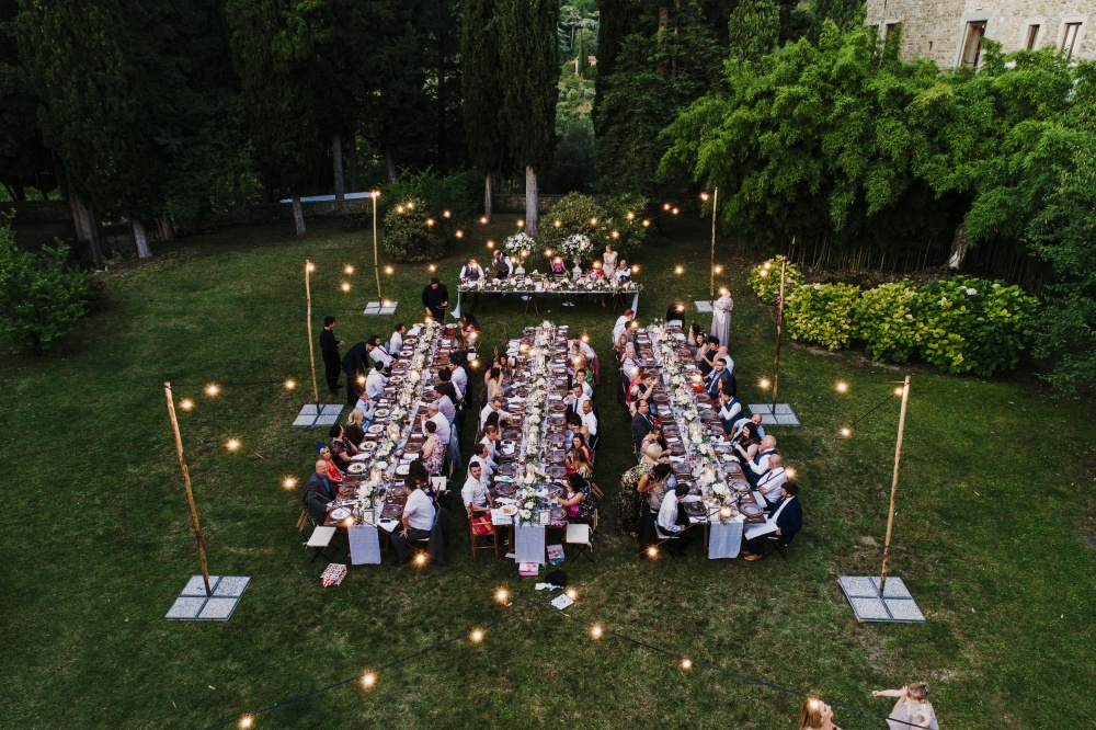wedding dinner in a villa in florence
