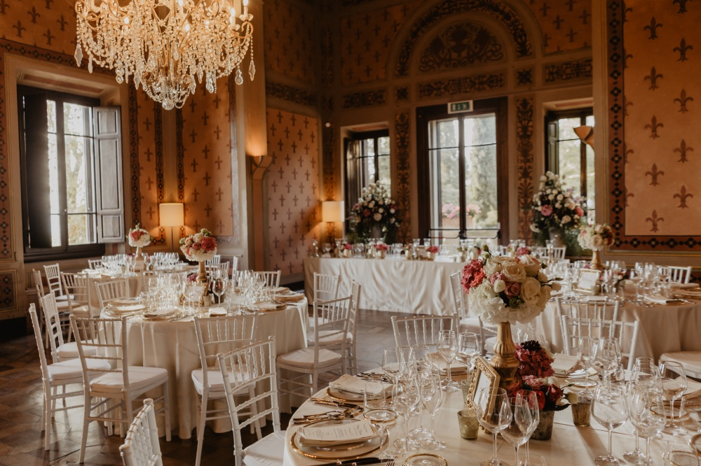 restaurant for wedding in a villa in florence