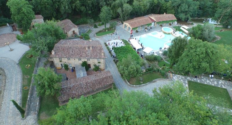 wedding villa in pisa aerial view