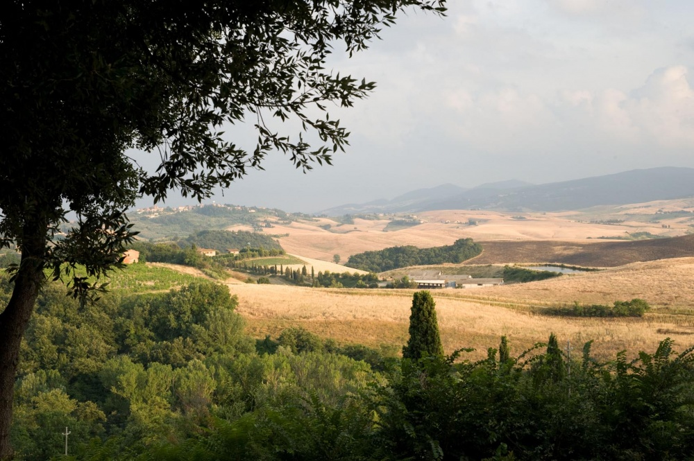 Tuscany view over the countryside landscape in Pisa