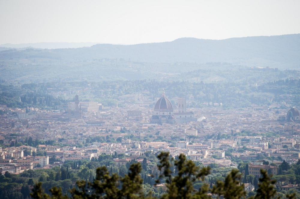florence view from a wedding villa