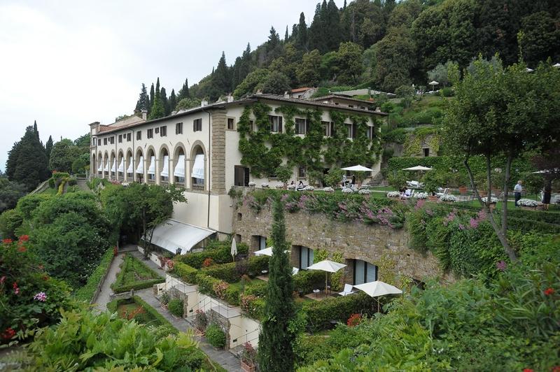 terrace gardens in a wedding villa