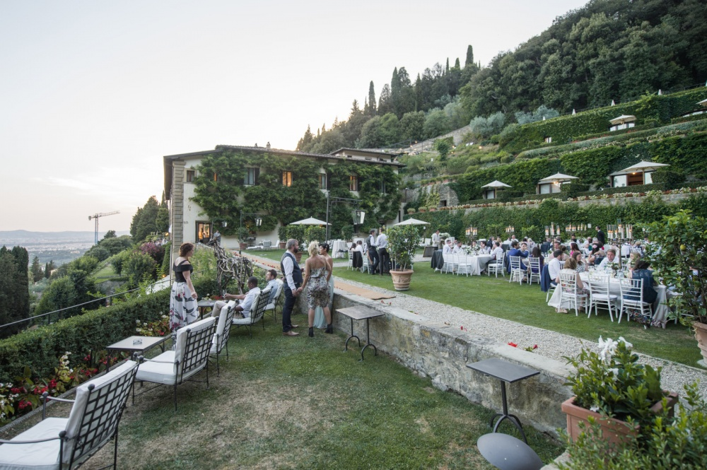 wedding terraces in a villa with florence view